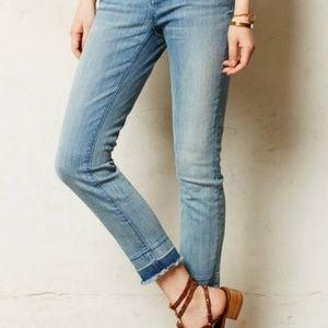 Anthropologie Pilcro Stet Raw Hem Skinny Jeans
